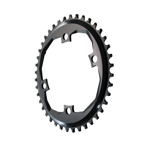 Absolute Black Apex 1 Oval Traction Chainring, 38T - Black