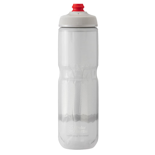 Polar Bottle Breakaway Water Bottle, 24oz - Ridge White/Silver