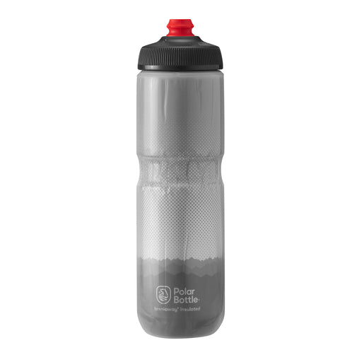 Polar Bottle Breakaway Water Bottle, 24oz - Ridge Charcoal/Silver