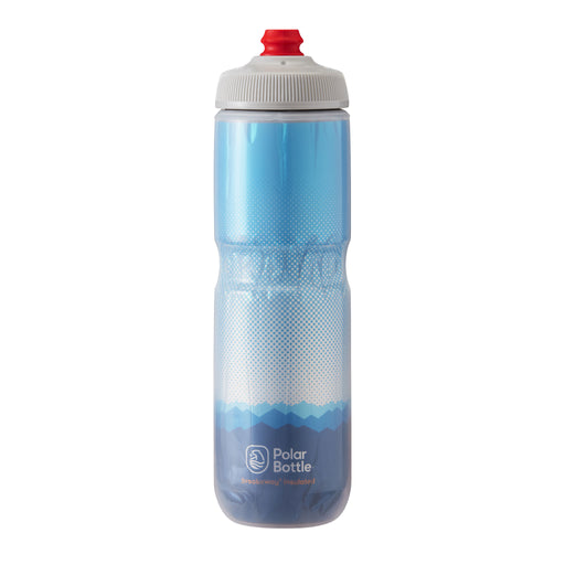 Polar Bottle Breakaway Water Bottle 24oz - Ridge Cobalt Blue/Silver