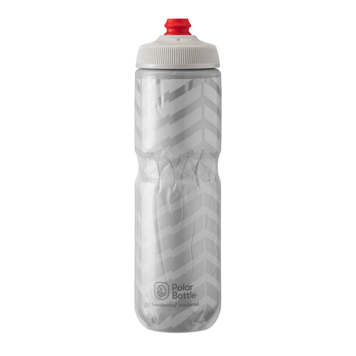 Polar Bottle Breakaway Water Bottle 24oz - Bolt White/Silver