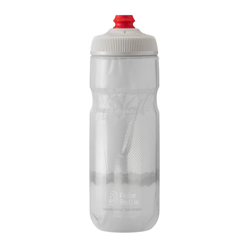 Polar Bottle Breakaway Water Bottle, 20oz - Ridge White/Silver