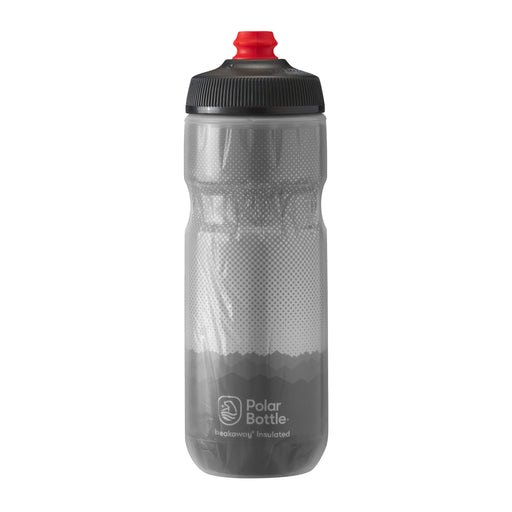 Polar Bottle Breakaway Water Bottle, 20oz - Ridge Charcoal/Silver
