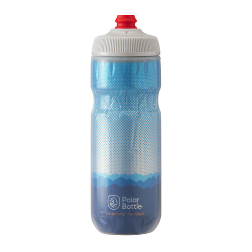 Polar Bottle Breakaway Water Bottle 20oz - Ridge Cobalt Blue/Silver