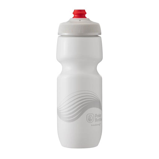 Polar Bottle Breakaway Water Bottle, 24oz - Wave Ivory/Silver
