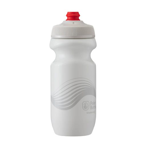 Polar Bottle Breakaway Water Bottle, 20oz - Wave Ivory/Silver