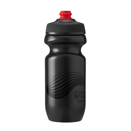 Polar Bottle Breakaway Water Bottle, 20oz - Wave Charcoal/Black