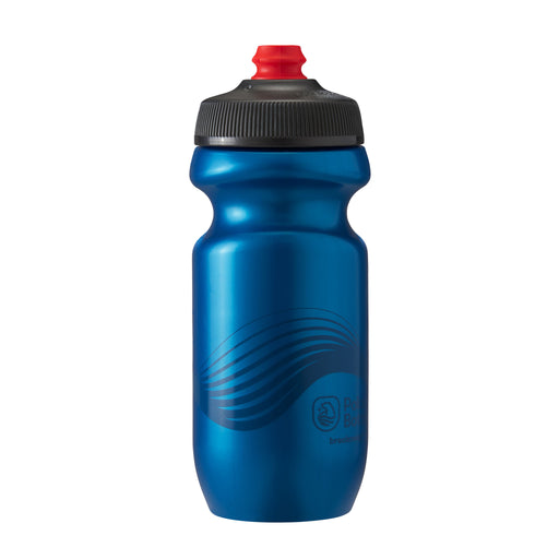 Polar Bottle Breakaway Water Bottle, 20oz - Wave Deep Blue/Charcoal