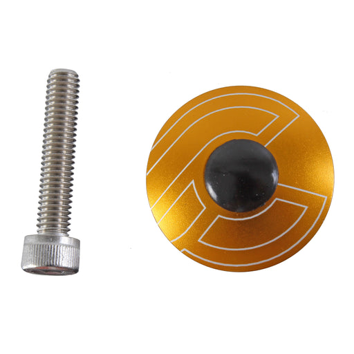 "Cinelli Top Cap Kit, Cinelli, 1-1/8"" Alloy Steerers, Gold"