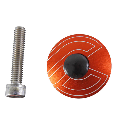 "Cinelli Top Cap Kit, Cinelli, 1-1/8"" Alloy Steerers, Orange"