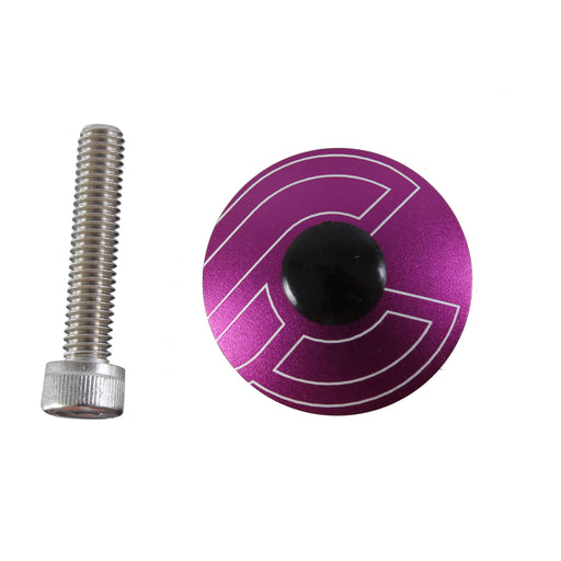 "Cinelli Top Cap Kit, Cinelli, 1-1/8"" Alloy Steerers, Purple"