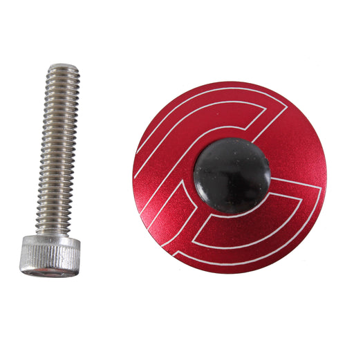 "Cinelli Top Cap Kit, Cinelli, 1-1/8"" Alloy Steerers, Red"