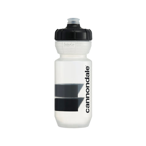 Cannondale Block Gripper Bottle Clear + Black 600ml CP5200U0160