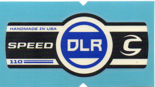 Cannondale Lefty Speed DLR 110 Band Decal/Sticker Black, white, blue