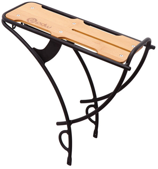 Portland Design Works Loading Dock Rear Aluminum Rack w/ Bamboo Top
