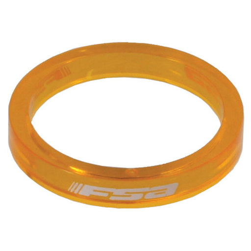 "FSA PolyCarb headset spacer, 1-1/8"" x 5mm - orange 10/bag"