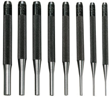 General Tools Drive-Pin Punch 8-Pc Set + Vinyl Case, 4""