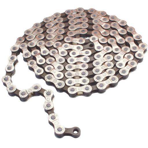 "Gusset GS-8 8sp Chain, 3/32"" - Silver/Brown"