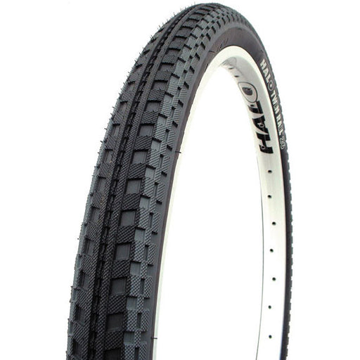 "Halo Twin Rail Dual Compound w Tire, 26x2.2"" Blk/Gry"