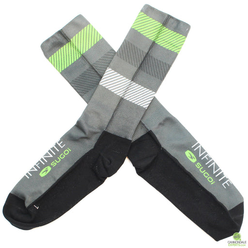 Infinite Cycles T1 Tall Cycling Socks Unisex Large