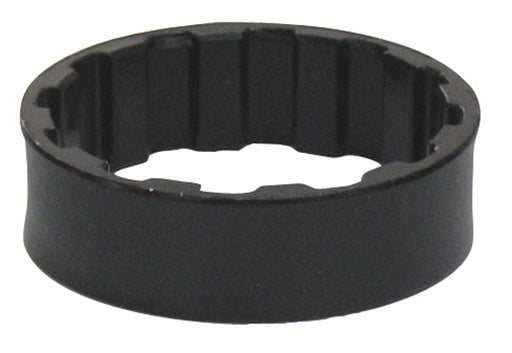 "4-Jeri Splined headset spacer, 1-1/8"" x 10mm black bag/10"