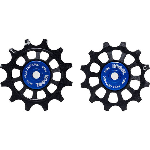 Kogel Bearings 12/12T Full Ceramic Derailleur Pulleys, Shim 11 - Blk