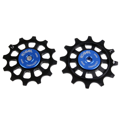 Kogel Bearings 12/12T Hybrid Ceramic Pulley Set WiFli, Road - BLK
