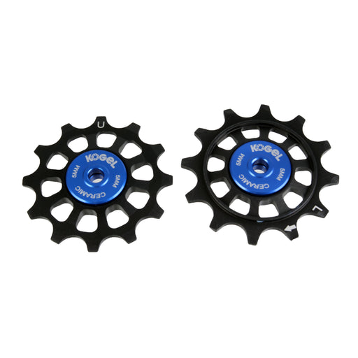 Kogel Bearings 12/12T Hybrid Ceramic Pulley Set Shim 11, Cross - Blk