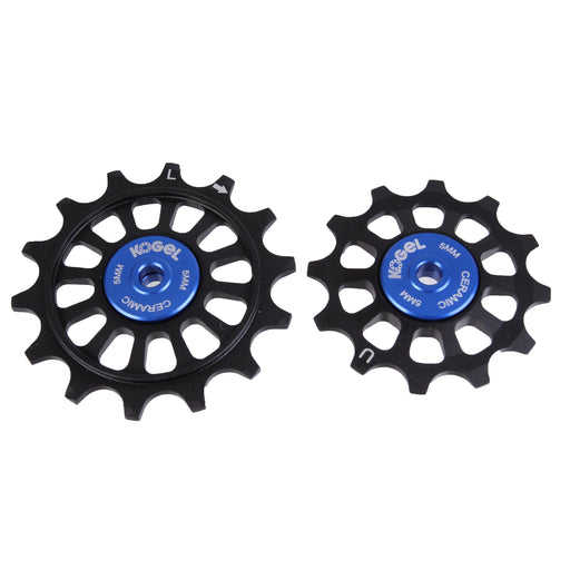 Kogel Bearings 12/14T Hybrid Ceramic Pulley Set SRAM 11, Cross - Blk