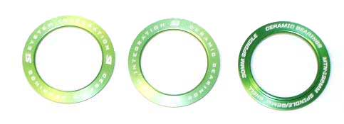 Cannondale BB30 Bearing Shield Set - Green - KP023/GRN