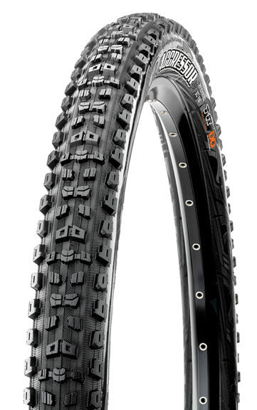 Maxxis Aggressor Tire: 27.5 x 2.30 Folding 60tpi Dual Compound EXO Tubeless