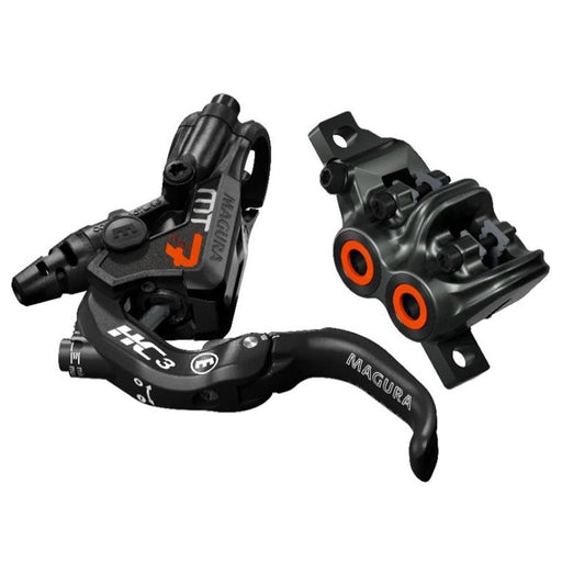 Magura MT7 HC Carbon Disc Brake*, PM, Front or Rear, Carbon/Orange