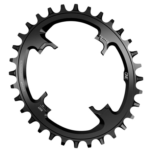 OneUp Components Switch Oval V2 12sp Chainring, 28t - Black