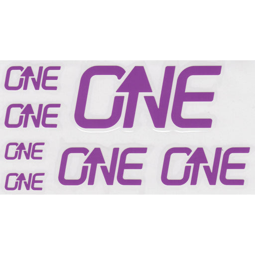 OneUp Components Riser Bar Decal Kit- Purple