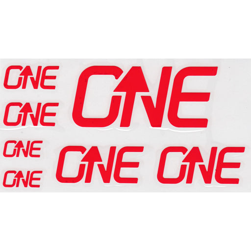 OneUp Components Riser Bar Decal Kit- Red