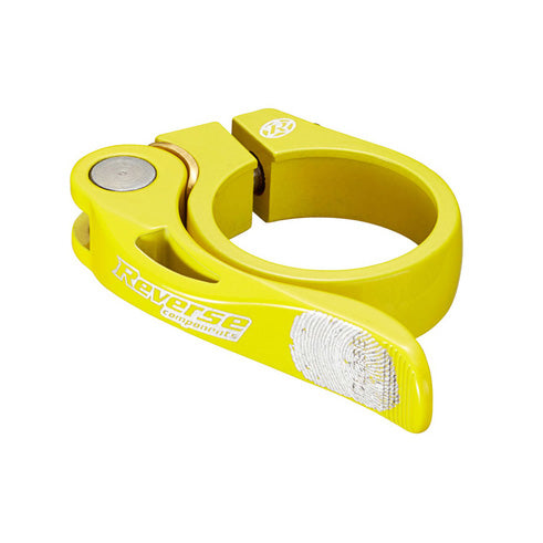 Reverse Long Life Q/R Seatpost Clamp, Neon Yellow