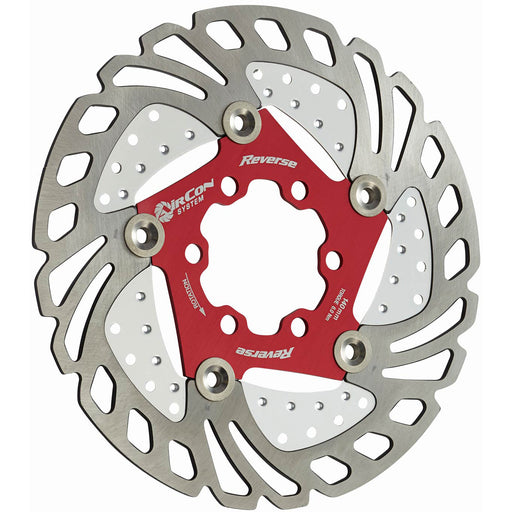 Reverse AirCon Disc Rotor, 140mm - Red