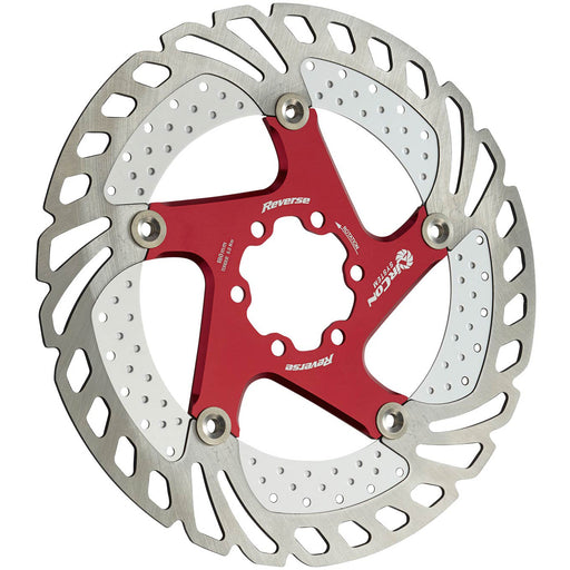 Reverse AirCon Disc Rotor, 180mm - Red