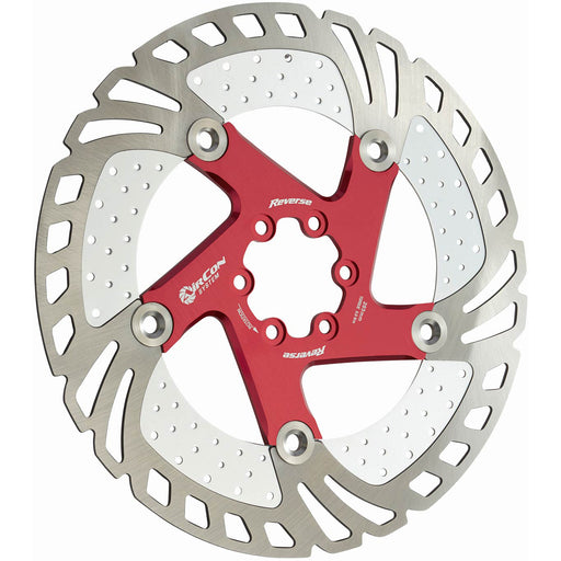 Reverse AirCon Disc Rotor, 203mm - Red