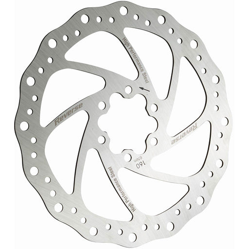 Reverse Steel Disc Rotor, 160mm - Silver