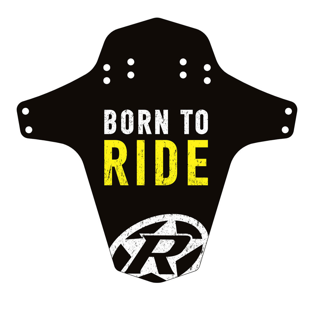 Reverse Mudfender, Born to Ride, Black/Light Yellow