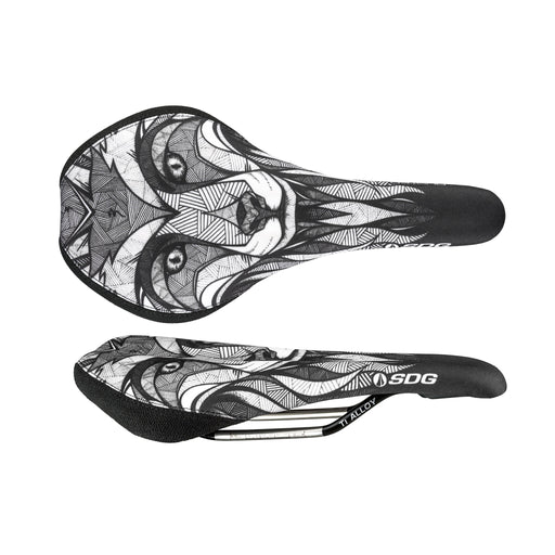 SDG Duster P Mtn saddle, Ti-Alloy rails - Chepi Fox Design