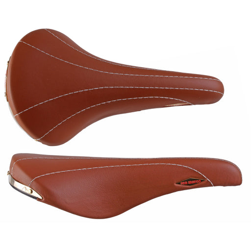 Selle San Marco Rolls Saddle, Steel, Smooth Leather - Honey