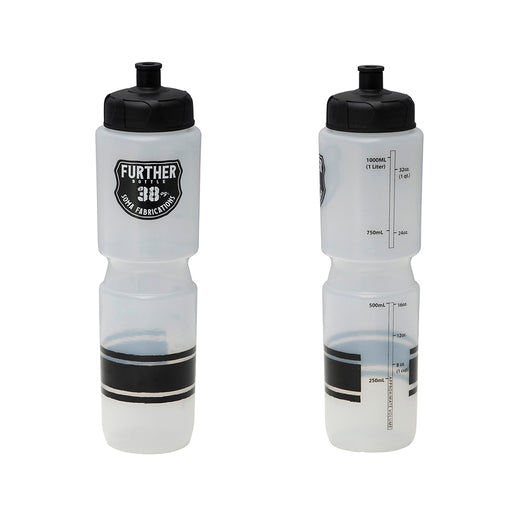 Soma Further 38oz Push/Pull Water Bottle, Clear/Black