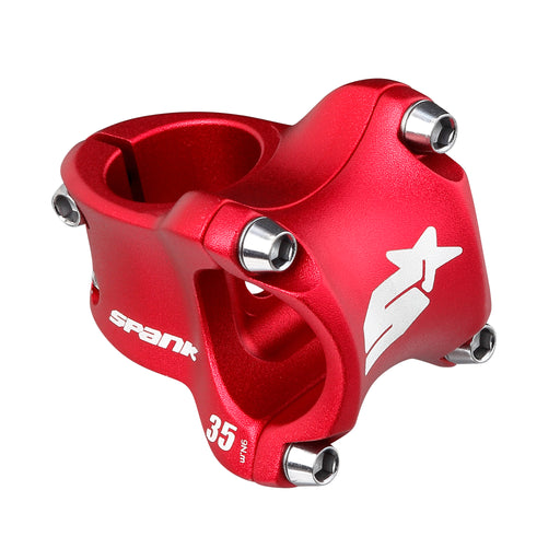 Spank Spike Race 2 Stem, (31.8) 0d x 35mm - Red