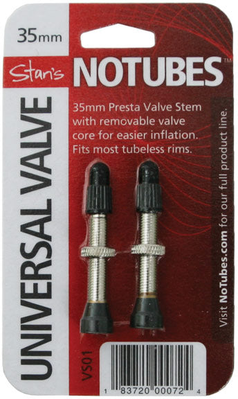 Stan's Brass Tubeless Presta Valves Stem, 35mm Universal - Pair