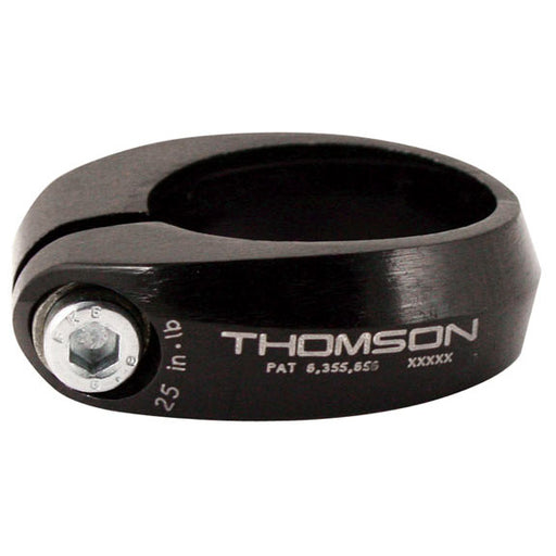 "Thomson Bolt-on seat clamp, 34.9mm (1-3/8"") - black"