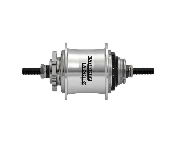 Sturmey Archer RS-RK3 3-sp disc hub, 36h - silver