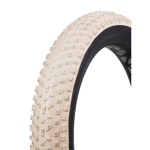 "Vee Tire Co Snow Avalanche K tire, 26x4.0"" studded cream/blk"