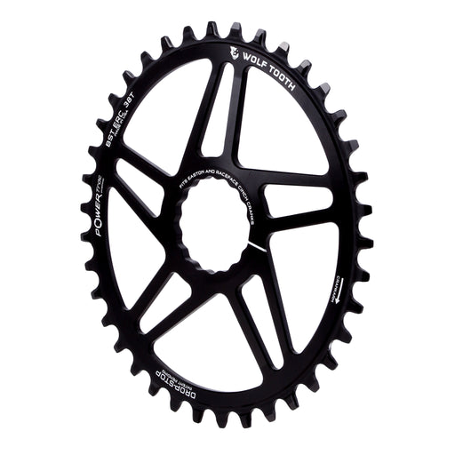 Wolf Tooth Components Powertrac Elliptical Drop-Stop Chainring: 38T Easton